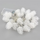 2M 20LEDs PineCone Shape Light Battery Outdoor Xmas String