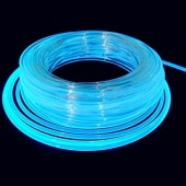 100M/Roll 12mm Diameter Flexible Solid Core Side Glow Light Plastic Fiber Optic Cable
