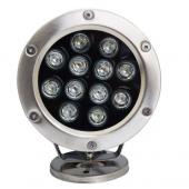 12W IP68 Waterproof LED Underwater Light 1200LM Lamp