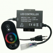 1500W High Voltage RGB LED Strip Controller with RF Touch Remote Control
