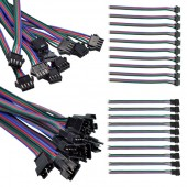 4 pin Connector For 1812 2801 6803 8806 LED RGB Pixel Strip 10pairs