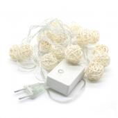 4M 20LEDs String Sepak Takraw LED Fairy Light Fabric Ball 2pcs