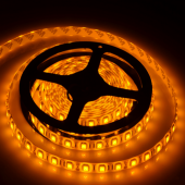 5050 12V 16.4Ft 5M 300LEDs Yellow LED Strip Light Waterproof
