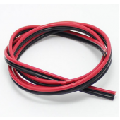 Red Black Copper Wire 2X1 LED Strip Monitor Power Cable Parallel 10M
