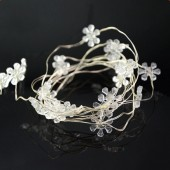 7ft 2M 20LEDs Warm White Sunflower String LED Copper Fariy Light 5pcs