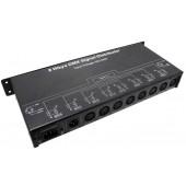 DMX128 DMX Signal Distributor AC 100~240V 7W 8CH Leynew LED Controller