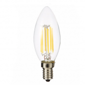 LED Bulb E14 6W Glass Vintage Candle Light C35 Filament Lamp 3pcs