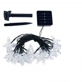 LED Solar Butterfly String 4.8M 20LEDs Garland Waterproof Decoration Light