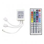 RGB LED Controller 44 Key Connectors DC 12V 2 Ports 2pcs