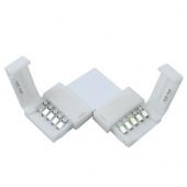 L Shape 12mm 5Pin Quick Splitter 2 Conductor For LED Strip Light 20pcs