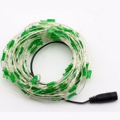 33ft 10M 100LEDs String Green Christmas Tree Shaped LED Copper Fariy Light 2pcs