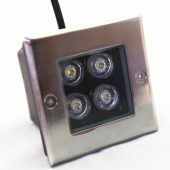4W Square LED Underground Light Garden Buried Yard Inground Light
