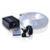 5000H 12V DC 16W RGB LED fiber optic translucent concrete light 160pcs 2 mixed star fiber 28keys remote contr