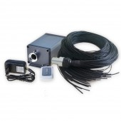 LED Fiber Optic Lights for Steam Room Decor with Shimmer Light Illuminator and Waterproof End Emitting Polymer Cable