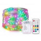 Battery Box LED Pixels String Christmas Lights RF Controller WS2812B 5V Lighting