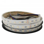 DC 12V 24V RGB CCT LED Strip 60LEDs/M 5050 SMD 5 in 1 Chip Stripe Light 5M