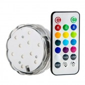 LED Waterproof RGB Submersible Light with IR Remote Vases Plinth 2pcs