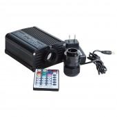 16W Rgb Led Fiber Optic Smart Kit with 200pcs 0.75mm 2m Optical Fiber Lighting