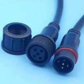 Waterproof 5 Core 0.3mm Black 20cm Wire LED Strip Connectors 5Sets